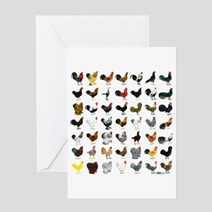 49 Roosters Greeting Card