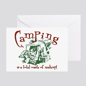 Camping Christmas Cards.Funny Camping Quotes Greeting Cards Cafepress