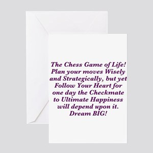 The Chess Game of Life! Greeting Cards