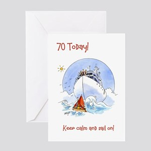 70 Today Greeting Card