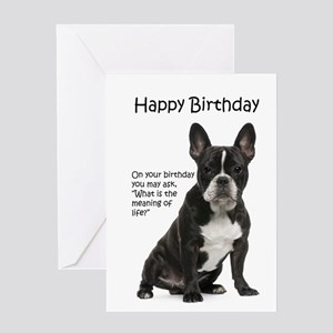 Frenchie Birthday Card