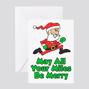 Miles Be Merry Greeting Card
