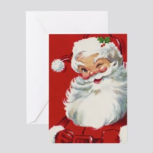 Vintage Christmas Jolly Santa Claus Greeting Card