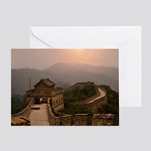 Aerial view of the Great Wall of Chi Greeting Card