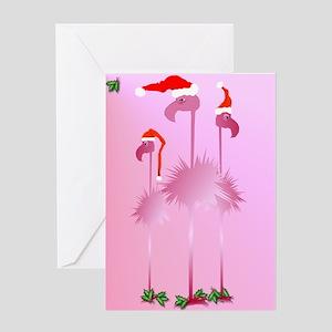 Flamingo Christmas Cards.Funny Christmas Flamingo Greeting Cards Cafepress