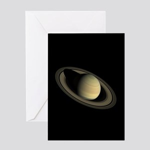 Saturn Portrait by Cassini Greeting Cards