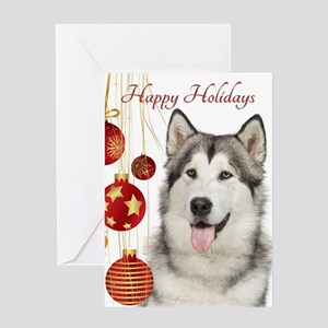 Husky Christmas Cards.Siberian Husky Christmas Greeting Cards Cafepress