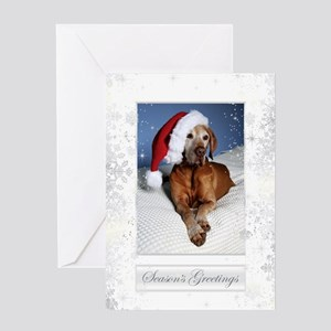 Vizsla Christmas Greeting Cards Cc001