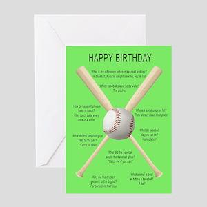 Baseball Birthday Greeting Cards Cafepress