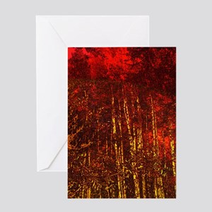 Aspen Tree Golden Fall Colors Autumn Colorado Crip Greeting