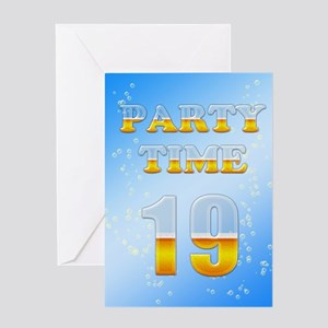 19th Birthday Party Beer Greeting Card