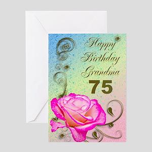 Grandmas 75th Birthday Greeting Cards