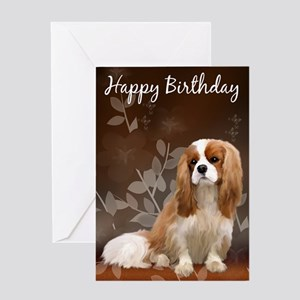 King Charles Spaniel Birthday Card Greeting Cards