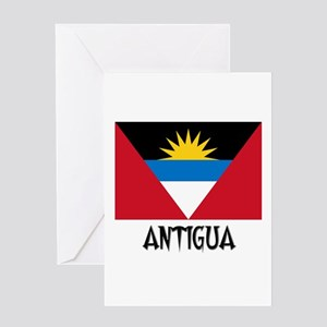 Antigua Flag Greeting Card