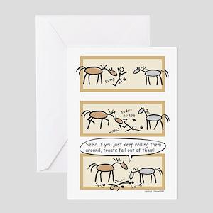 Horse Treats Birthday Card Message On Inside