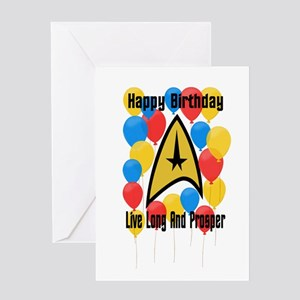 Happy Birthday Live Long Greeting Cards