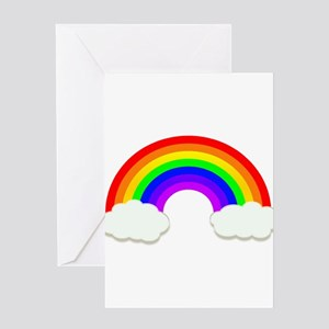 6a6469944fa8 Rainbow Greeting Cards - CafePress