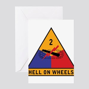2nd Armored Division - Hell o Greeting Card