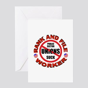 RIGHT TO WORK Greeting Card