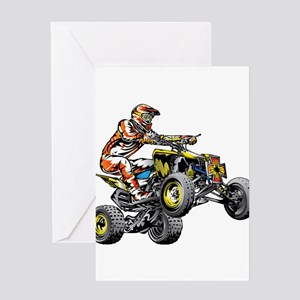 ATV Quad Racer Freestyle Greeting Cards