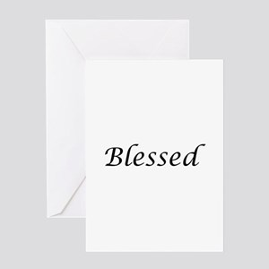 Blessed Calligraphy Style Greeting Card