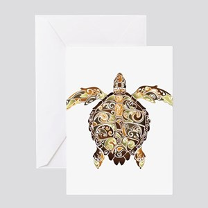 Filigree Turtle Greeting Cards