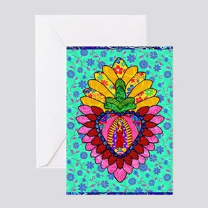 Pink Guadalupe Milagro Greeting Card