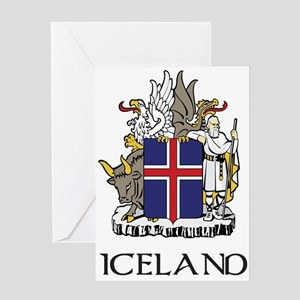 Iceland Coat of Arms Greeting Card