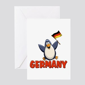 Germany Penguin Greeting Card