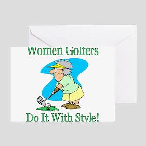 Women Golfers Greeting Cards