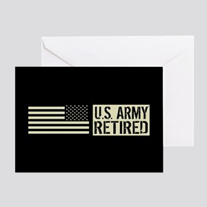 U.S. Army: Retired (Black Flag) Greeting Card