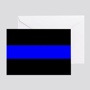 Police: The Thin Blue Line Greeting Card