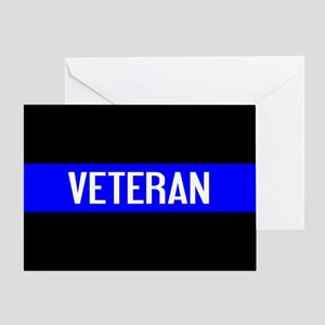 Police: Veteran & The Thin Blue Line Greeting Card