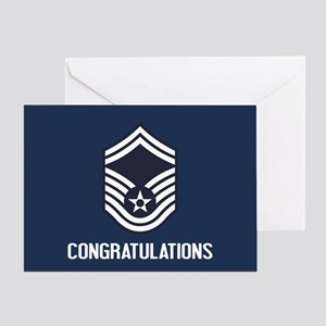 USAF SMSgt - Congratulations (Blue) Greeting Card