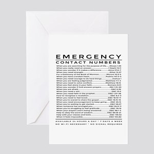 bible emergency number Greeting Cards
