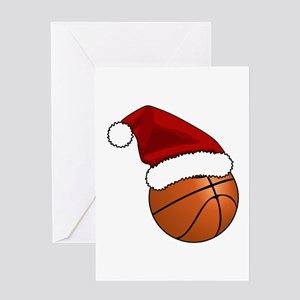 Christmas Basketball Greeting Cards