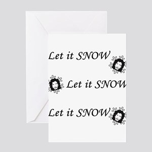 Let is SNOW Greeting Cards