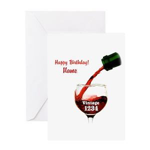 50th Birthday Wine Lover Greeting Cards