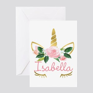 Sleeping Unicorn Personalize Greeting Cards