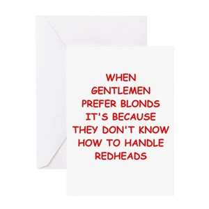 Funny Redhead Greeting Cards