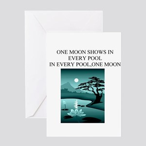 zen buddhism koan satori meditation Greeting Card