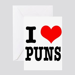 Funny Heart Puns Greeting Cards - CafePress