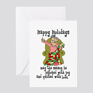 Happy Holidays - Quilter Greeting Card