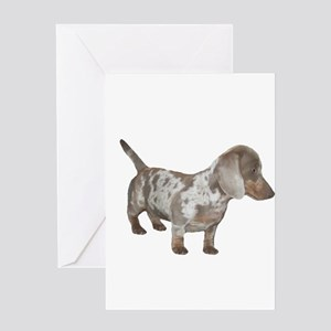 Speckled Dachshund Dog Greeting Card