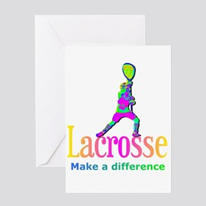 Lacrosse Goalie Make A Difference Greeting Card
