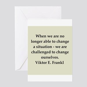 Viktor Frankl quote Greeting Card