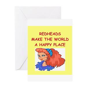 Redhead Greeting Cards
