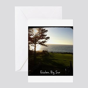 Front lawn at Esalen, Big Sur Greeting Card