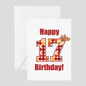 Happy 17th Birthday Greeting Card
