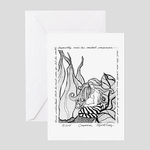 Pregnant Mermaid Greeting Cards - CafePress